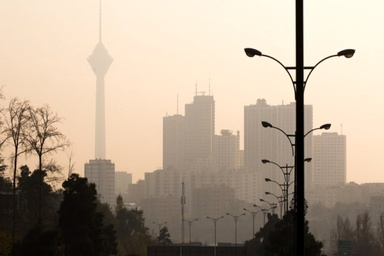افزایش غلظت اُزن در هوای تهران طی بعدازظهر امروز