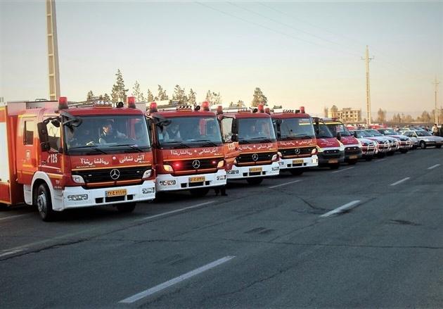 استقرار ۲۶۰ آتشنشانان در  تهران
