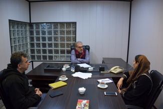 گزارش تصویری گفتگوی تیننیوز با «داود فهندژ سعدی»