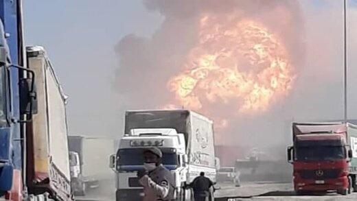 انفجار و آتش سوزی گسترده در مرز ایران و افغانستان