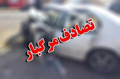 تصادف پژو ۲۰۶ با تیبا ۵ کشته و زخمی برجای گذاشت