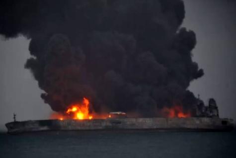 ناپدید شدن 30 ایرانی در برخورد نفتکش ایرانی و کشتی باری چین