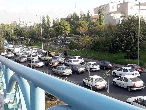 ترافیک در معابر بزرگراهی پایتخت+ جزئیات