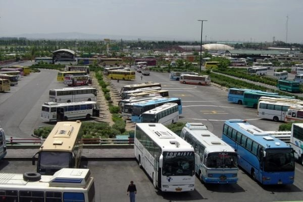 کاهش مسافران اتوبوسهای برون شهری در قزوین