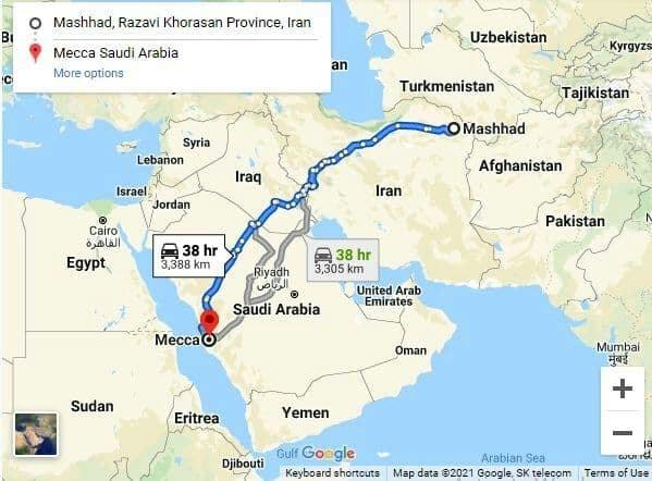 پیشنهاد ساخت اتوبان مشهد - مکه در مذاکرات ایران و عربستان