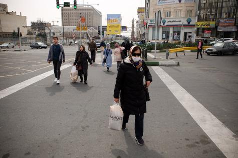 نقشه ریسک ابتلا به ویروس کرونا در تهران