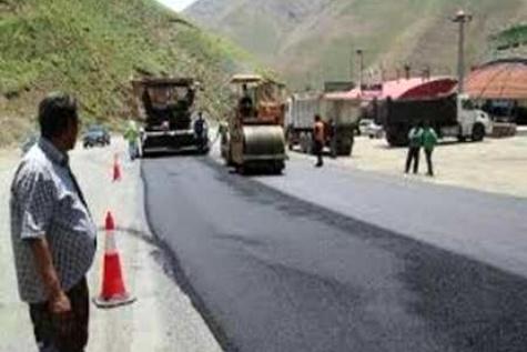اجرای عملیات عمرانی در بخشی از جاده چالوس