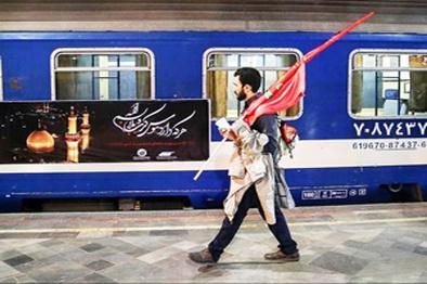 38 قطار رجا زائران اربعین حسینی را جابهجا میکنند