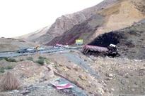 عکس  تشکر رانندگان از رمپ فوق پیشرفته گردنه حاجی آباد