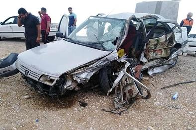 تصادف در جاده دیلم ۲ کشته و ۳ مصدوم برجای گذاشت