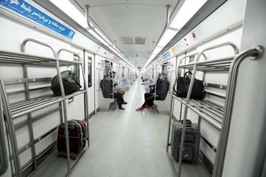 استفاده از قطار سه واگنه در مترو فرودگاه امام