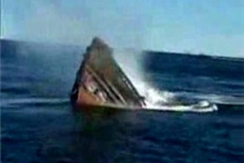غرق شناور تجاری در آبهای دیر