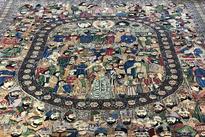 رونمایی از فرش نفیس «مشاهیر» در کاخ نیاوران