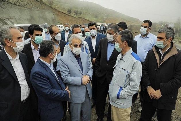 معاون رییس جمهوری و وزیر راه از آزاده تهران-شمال بازدید کردند