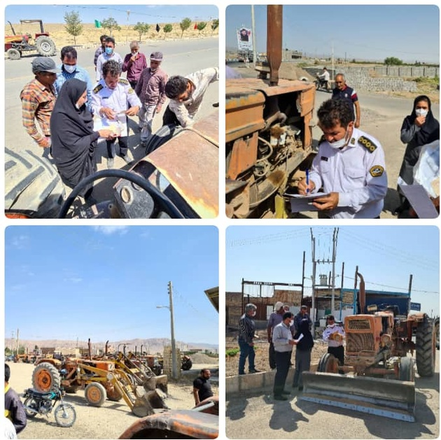 تسهیل فرایند شماره گذاری وسایل نقلیه کشاورزی در شهرستان کاشان