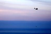 عکس/ پرواز بابانوئل بر فراز اقیانوس اطلس