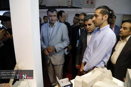 بازدید وزیر راه از هفتمین نمایشگاه بینالمللی حملونقل ریلی