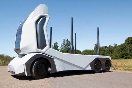 رونمایی از کامیون خودران، تمام برقی و بدون کابین راننده