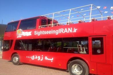 اولین اتوبوس گردشگری کیش راه اندازی شد