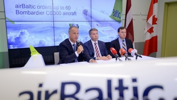 AirBaltic buys up to 60 more CS300s