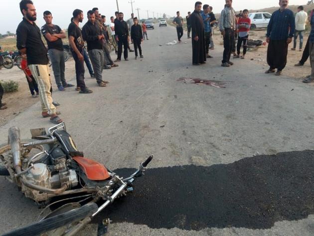 تصادف موتورسیکلت در شوشتر دو کشته برجا گذاشت