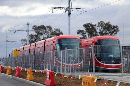 LRV testing begins on Canberra light rail line