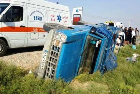 یک کشته و11 زخمی در واژگونی وانت نیسان در شهرستان فسا