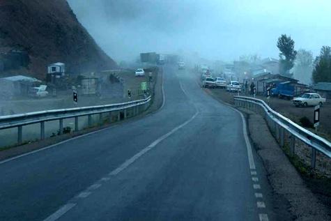 مه گرفتگی و کاهش دید در استان های کرمانشاه و گیلان