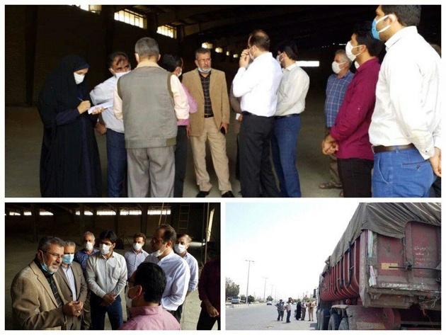 توقیف ماشین حمل گندم فاقد بارنامه توسط فرماندار شهرستان آبیک