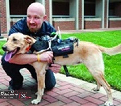Working dogs equipped with high - tech tools