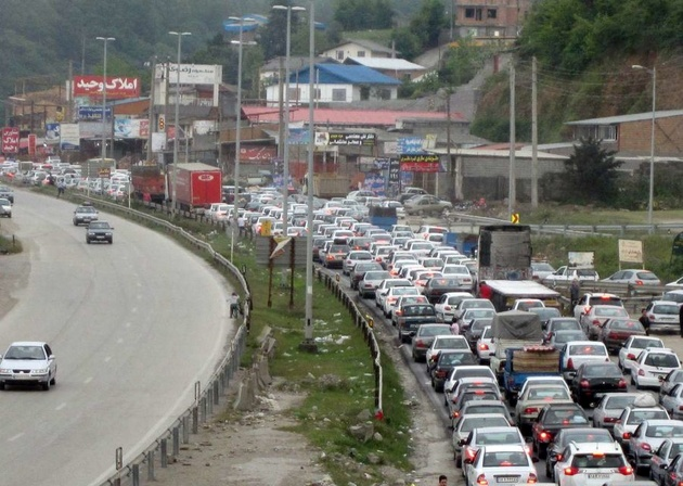 ترافیک سنگین در برخی جادههای شمالی