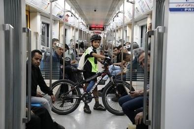 تجربه بیش از ۷ هزار شهروند سفر ترکیبی مترو و دوچرخه