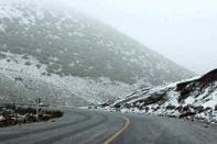 بارش برف در جاده های استان کردستان
