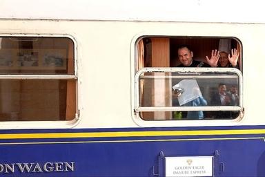 قطار گردشگران خارجی وارد اراک شد