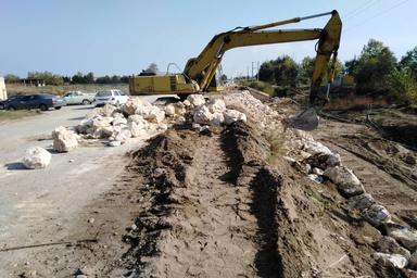 پروژه عملیات بهسازی جاده دریا در حال انجام است