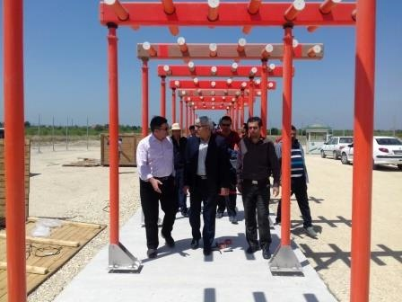 عملیات نصب آنتن لوکولایزر فرودگاه ساری شروع شد