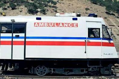 ساخت اولین قطار واگن آمبولانس در زنجان