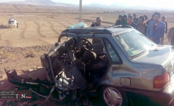 سانحه رانندگی در استان کرمانشاه ۴ کشته و ۳ مجروح برجا گذاشت