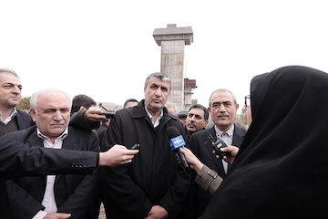 بازدید وزیر راه و شهرسازی از راهآهن تبریز- میانه و بزرگراه تبریز