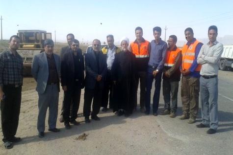 اجرای ۸ کیلومتر تعریض محور بیارجمند - خانخودی سمنان