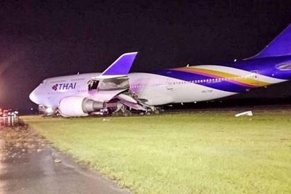 خروج یک هواپیمای تایلندی از باند