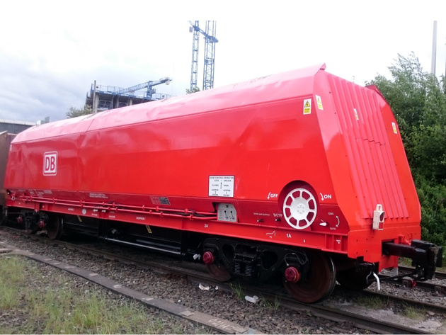 Coal wagons converted to carry aggregates