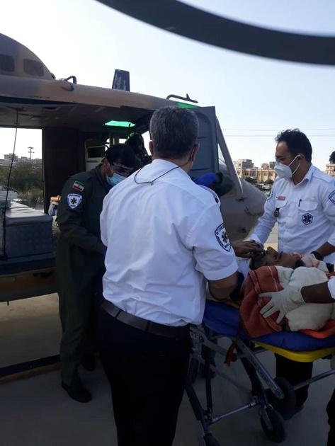 امدادگران اورژانس هوایی قزوین ناجیان مرد ۵۲ ساله رازمیانی
