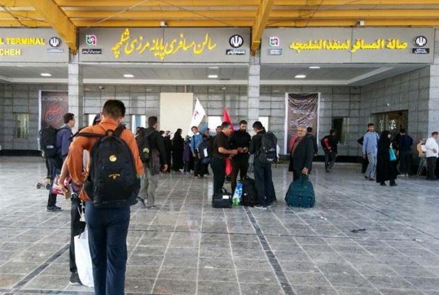 آخرین وضعیت مرزهای خوزستان/ ازدحام زائران در مرز شلمچه / تردد متوقف شد