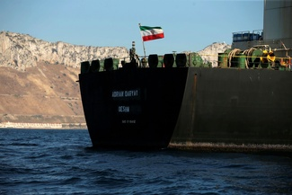 حرکت نفتکش آزادشده ایرانی به سمت دریای مدیترانه + فیلم