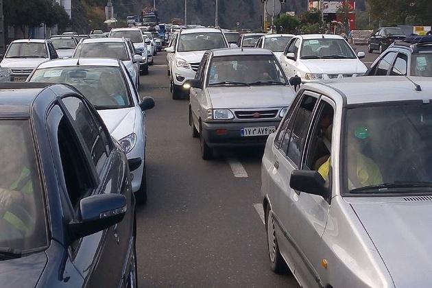 ترافیک سنگین در محور شهریار_تهران