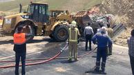 محور تهران - لواسان در پی واژگونی تانکر سوخت بازگشایی شد