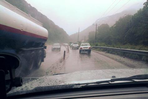 بارش باران در گردنه های خراسان شمالی ادامه دارد