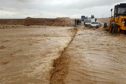 سیلاب در شهرهای مختلف خراسان جنوبی