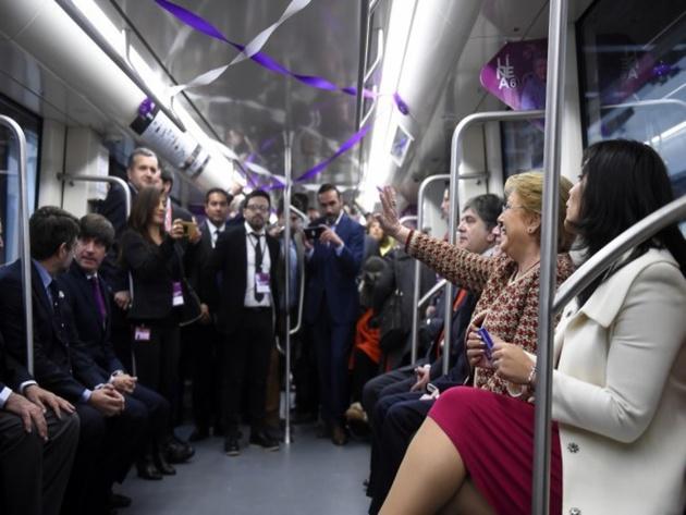 Santiago Metro Line 6 in Chile inaugurated